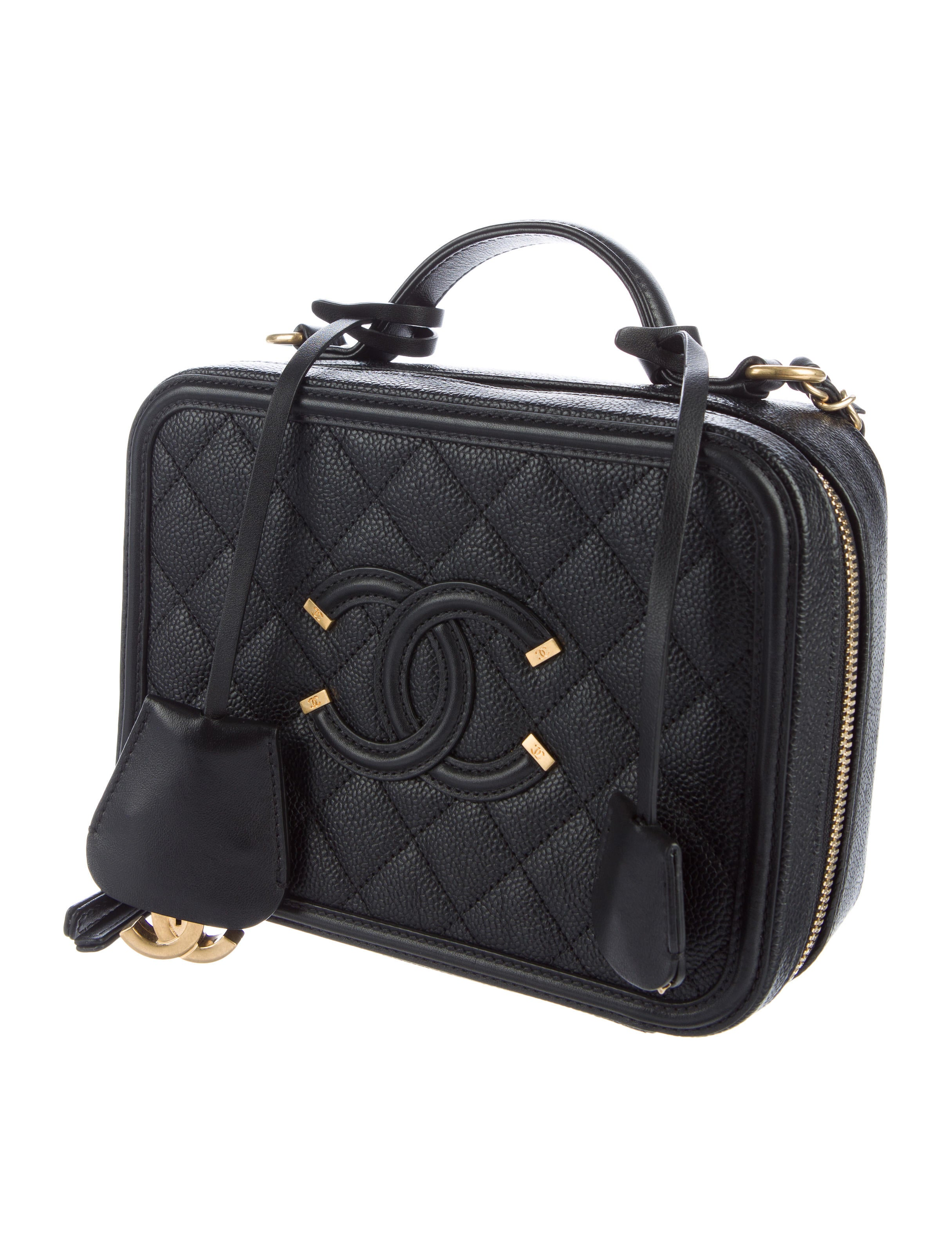 Chanel Cc Filigree Vanity Case Bag Handbags Cha145207