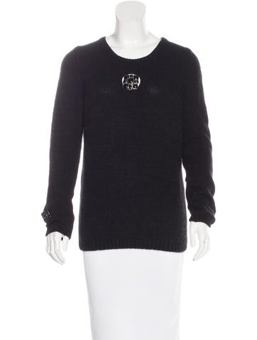 Chanel Cashmere Embellished Sweater None