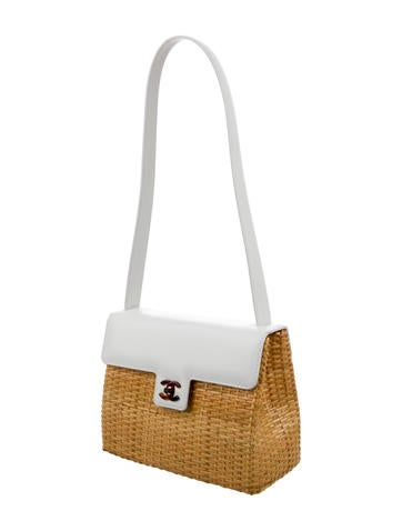Lacquered Basket Bag