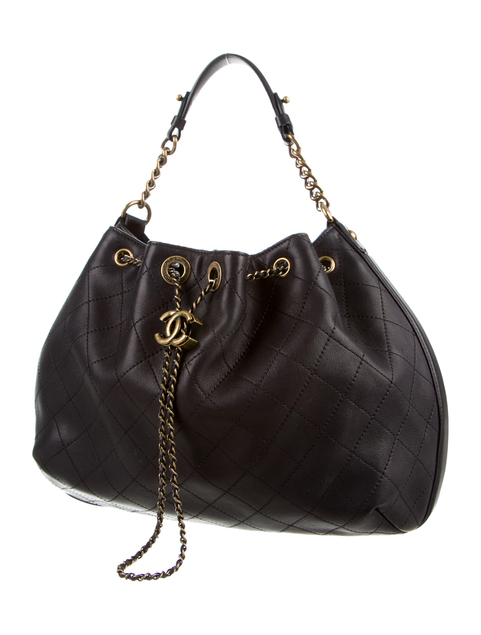 Chanel 2016 Paris-Rome Drawstring Bag