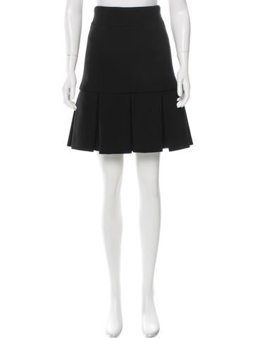 Chanel Wool Pleated Skirt None