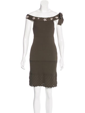 Chanel Embellished Knit Dress None