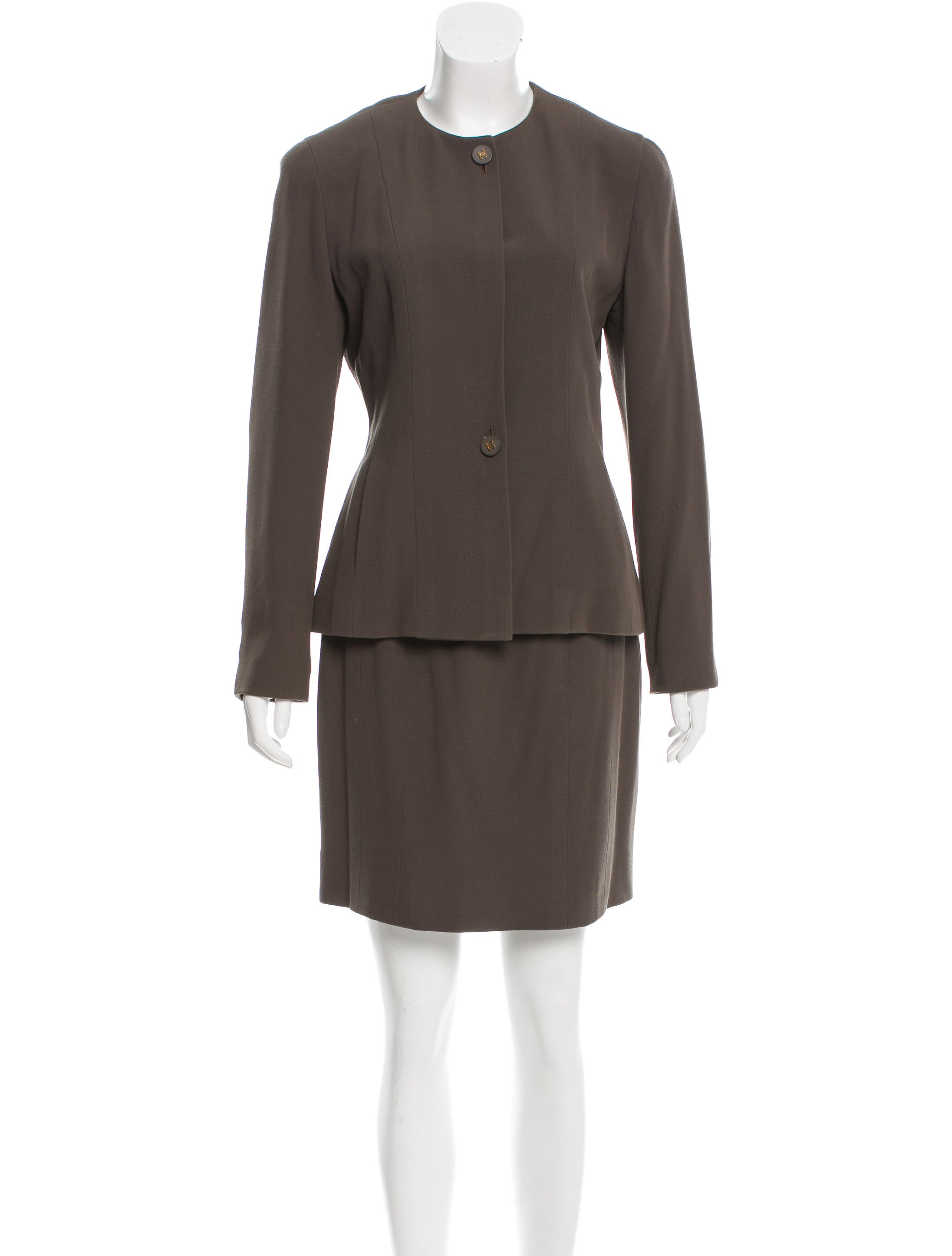 chanel pencil mini skirt suit clothing cha145723 the