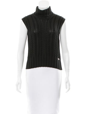 Chanel Sleeveless Turtleneck Top None