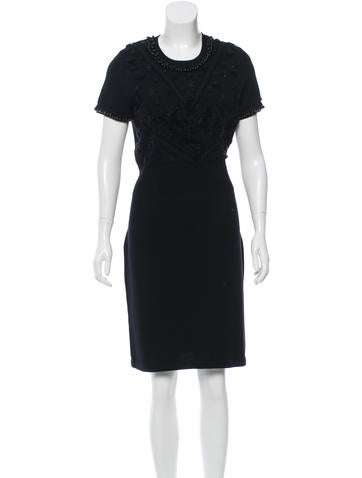 Chanel Embellished Wool Dress None