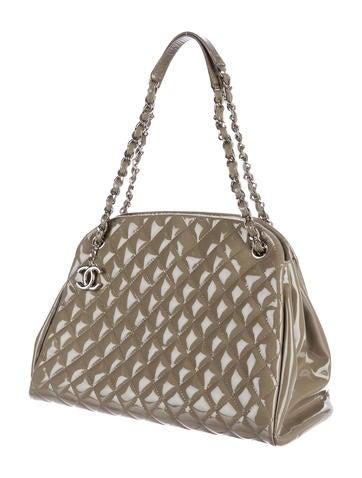 f66fd4b0e423 Chanel Just Mademoiselle Maxi Bowling Bag - Handbags - CHA146103 | The  RealReal