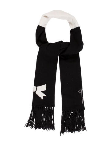 Chanel Cashmere Knit Scarf None