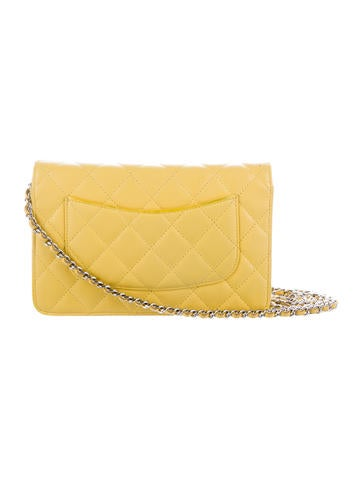 Lambskin Quilted Wallet On Chain
