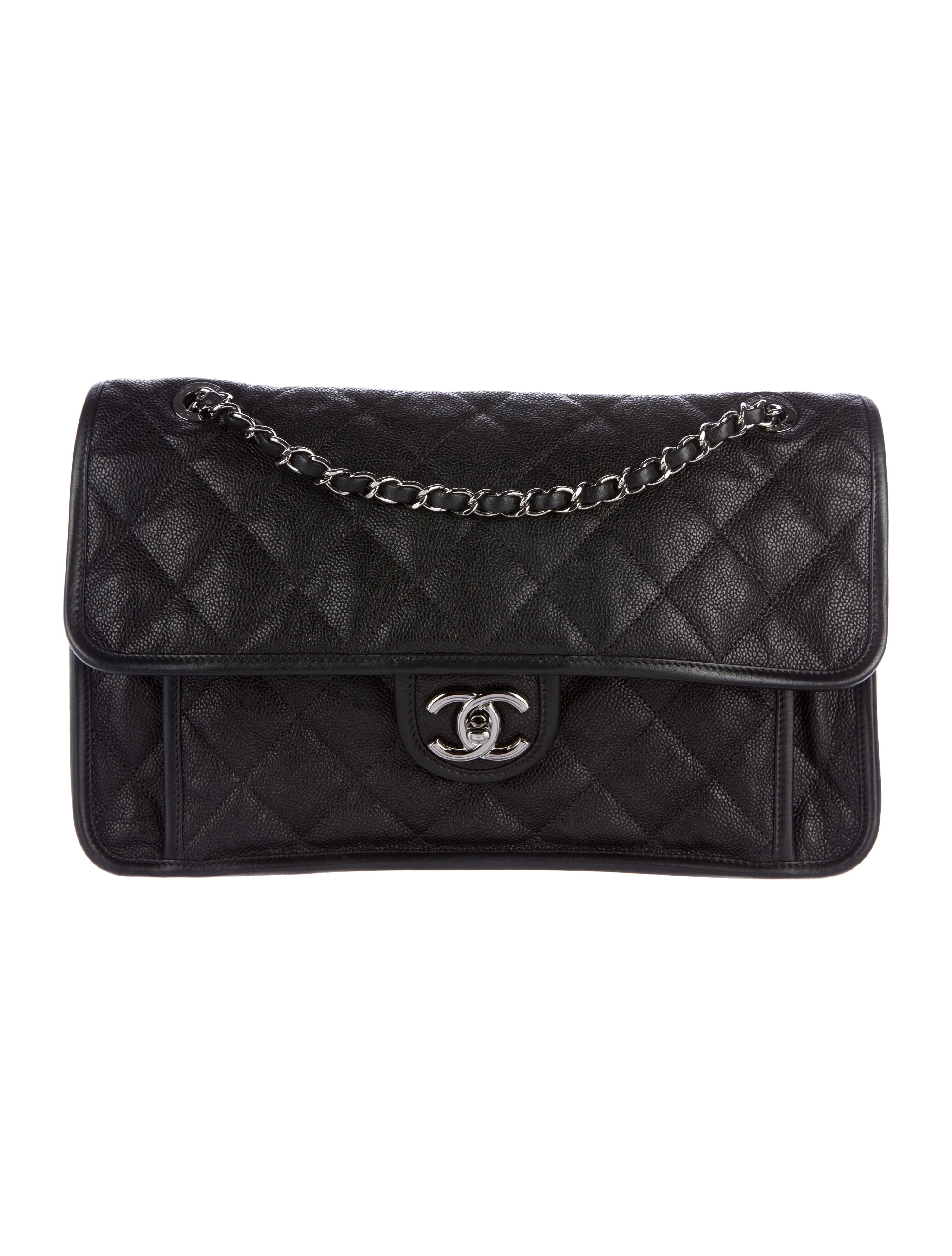 0ed50cce69f897 Chanel Large French Riviera Flap Bag - Handbags - CHA146144 | The RealReal