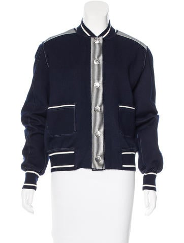 Chanel Cashmere-Blend Bomber Cardigan None