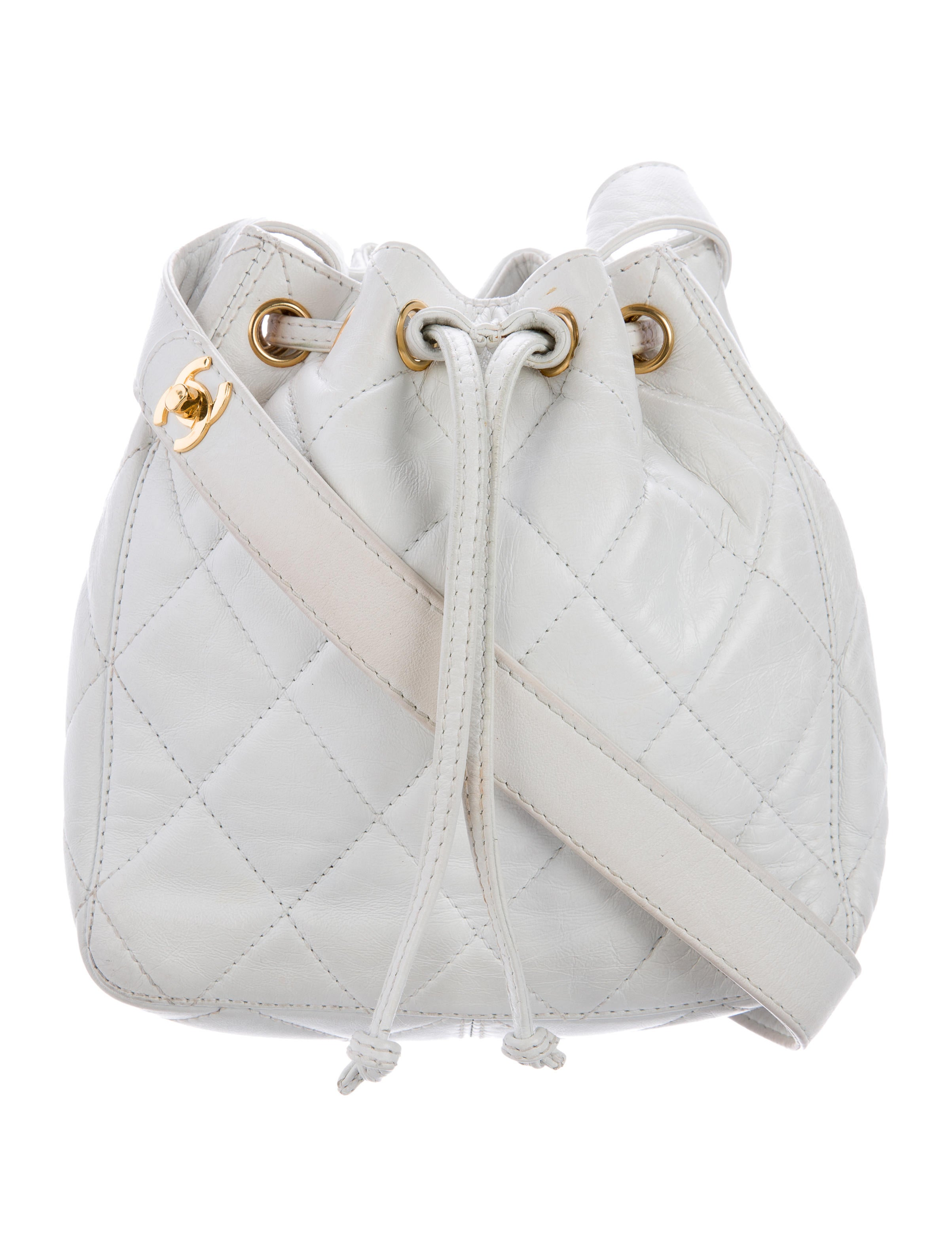 Chanel Quilted Lambskin Drawstring Bag - Handbags - CHA146654 ...