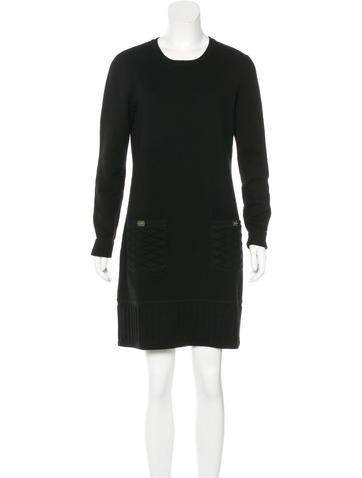 Chanel Cashmere Matelassé Dress None