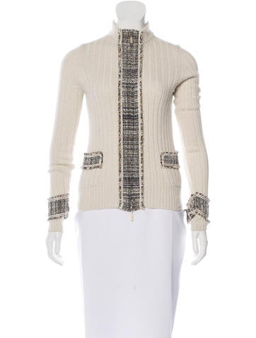 Chanel Metallic Cashmere Sweater None