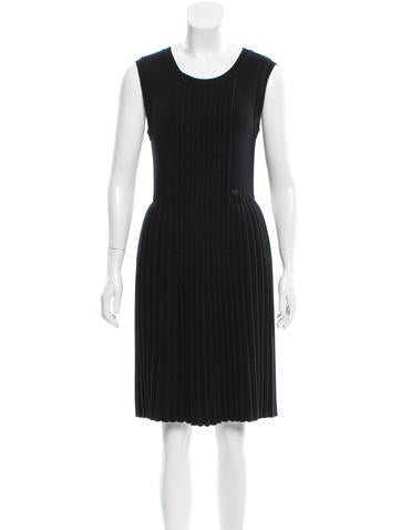 Chanel Wool Rib Knit Dress None