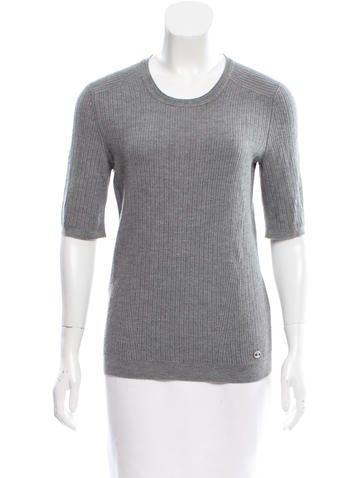 Chanel Rib Knit Cashmere Top None