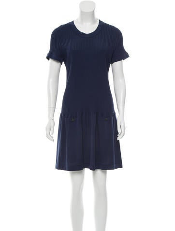 Chanel Flared Knit Dress None