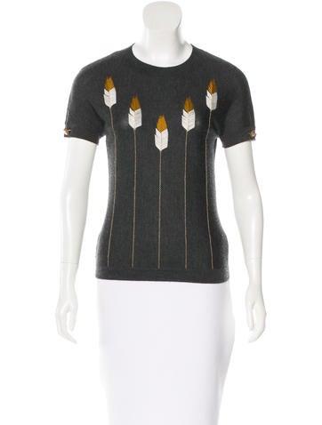 Chanel Paris-Dallas Embroidered Top None