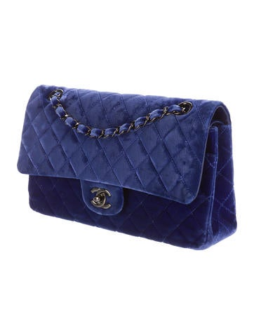 Velvet Classic Medium Double Flap Bag