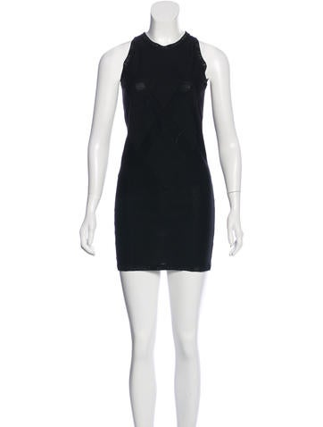 Chanel Logo-Trimmed Knit Dress None