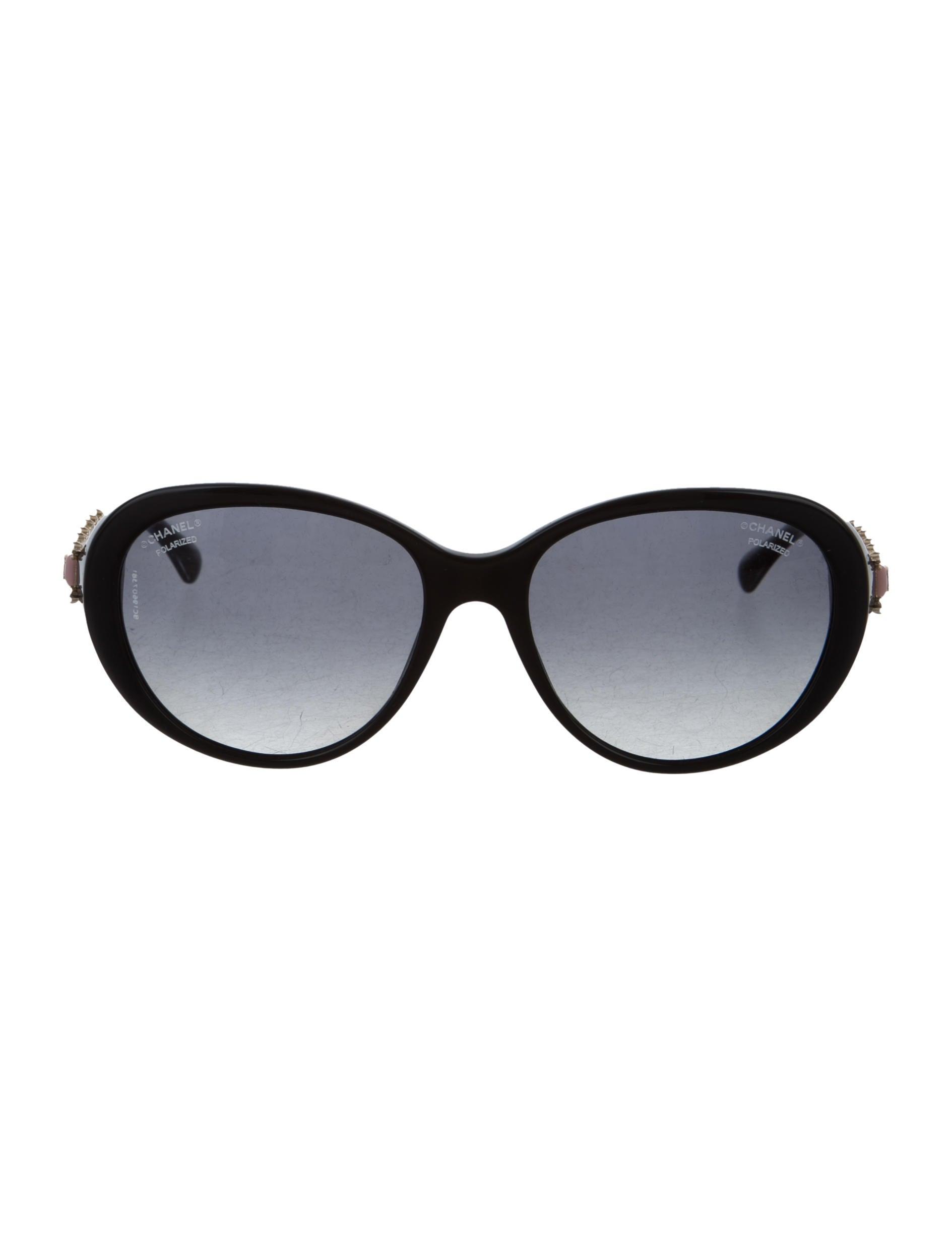 efe7f247b4 Chanel Polarized Pearl Bijoux Sunglasses w  Tags - Accessories ...