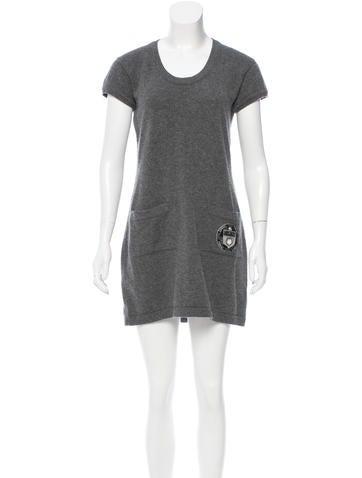 Chanel Cashmere Logo Dress None