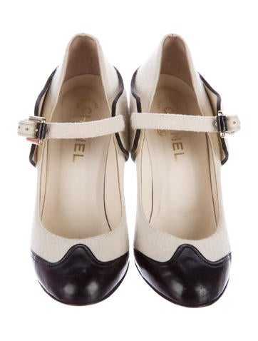 Mary Jane Cap-Toe Pumps