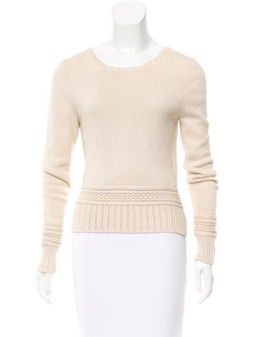 Chanel Silk & Cashmere Long Sleeve Sweater None