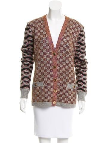 Chanel Silk & Mohair-Blend Cardigan None