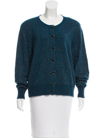 Chanel Cashmere Metallic Cardigan None