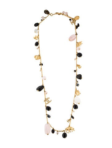 Chanel Bead & Charm Necklace