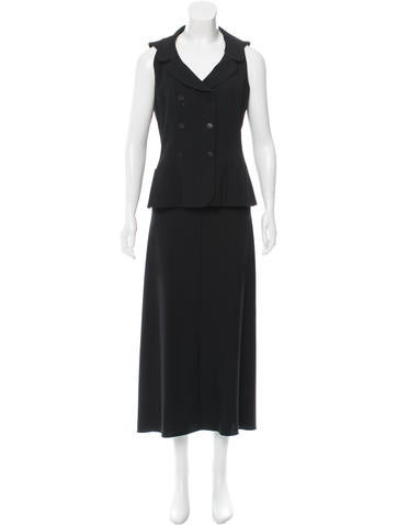 Chanel Wool Double-Breasted Skirt Set None