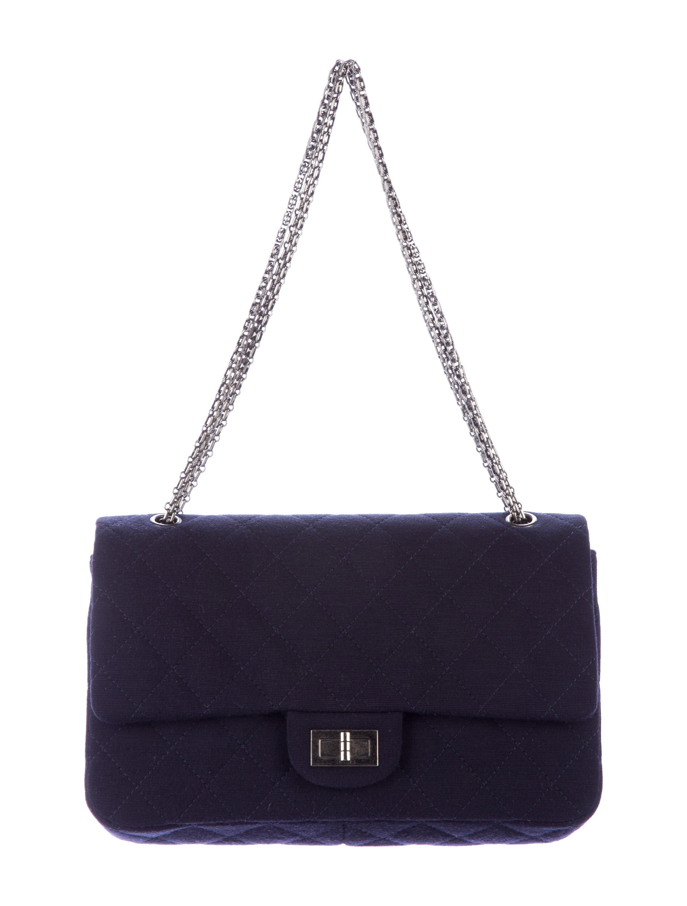 a1af617f8a0afe Chanel Jersey Reissue 227 Double Flap Bag - Handbags - CHA148921 ...