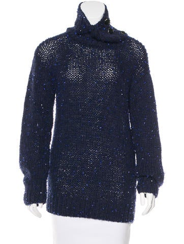 Chanel Embellished Cashmere Sweater None