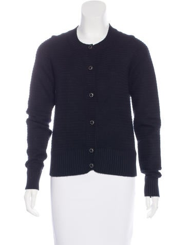 Chanel Cashmere Rib Knit Cardigan None