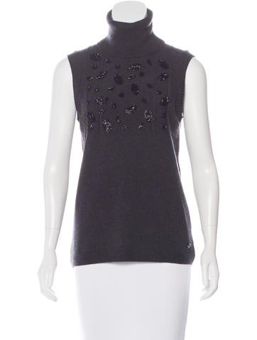 Chanel 2016 Paris-Rome Embellished Cashmere Top w/ Tags None