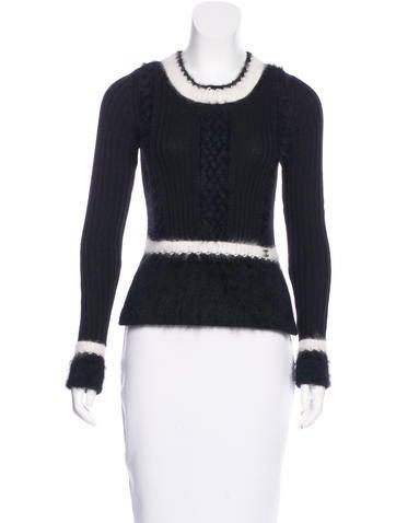 Chanel Wool Angora Sweater None