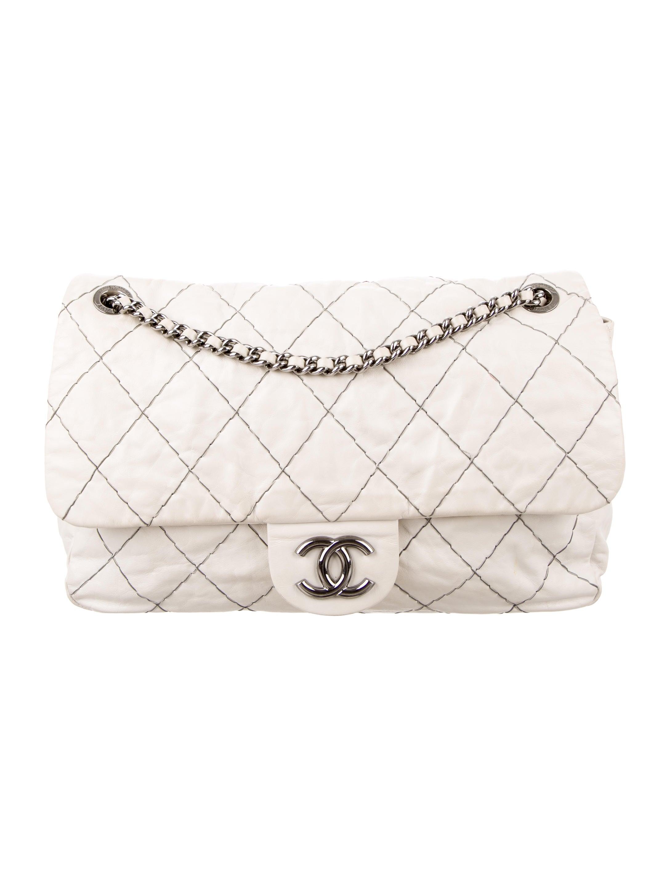 68adf24ae36241 Chanel Double Stitch Jumbo Flap Bag - Handbags - CHA149830 | The ...