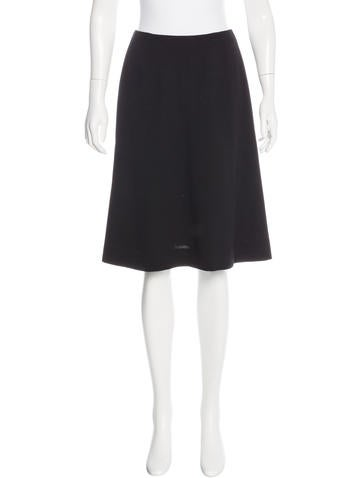 Chanel Wool A-Line Skirt None