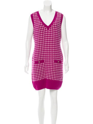 Chanel Patterned Cashmere Dress None