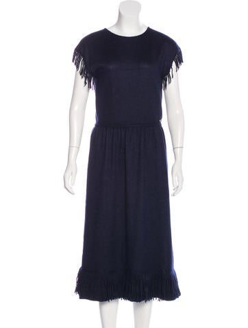 Chanel Paris-Dallas Knit Fringe Dress None