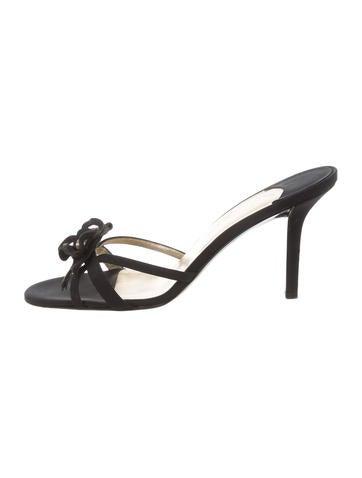Chanel Canvas Camellia Slide Sandals