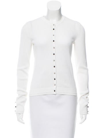 Chanel Knit Button-Up Cardigan None