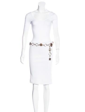 Gripoix Pearl Chain Belt