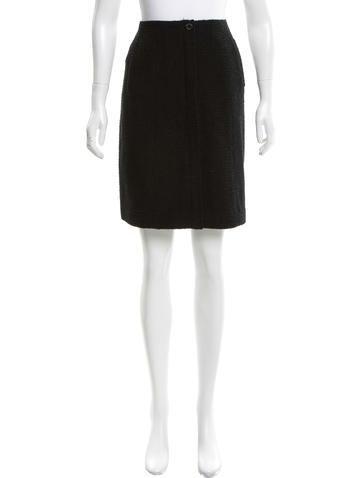 Chanel Wool Knee-Length Skirt None