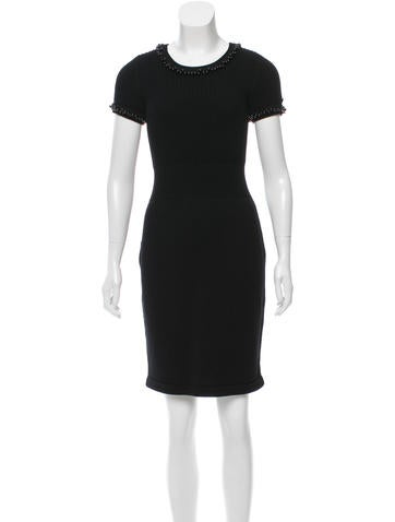Chanel Wool Beaded Dress None