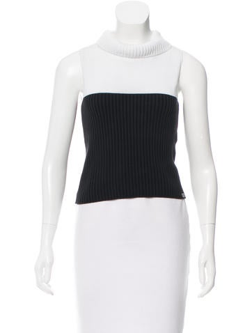 Chanel Two-Tone Sleeveless Top None