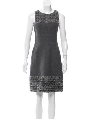 Chanel Wool & Cashmere-Blend Dress None