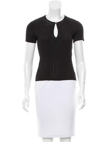 Chanel Open Knit Short Sleeve Top None