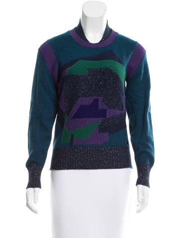 Chanel Cashmere Intarsia Sweater None