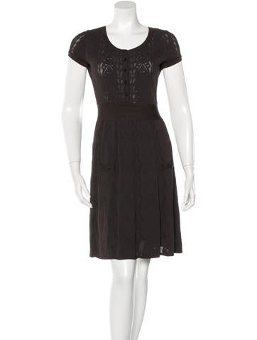 Chanel Short Sleeve Knit Dress None